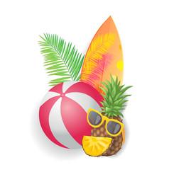 summer holidays icons closeup vector image