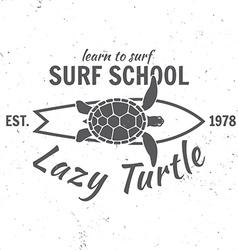 Surf school concept summer surfing retro badge vector