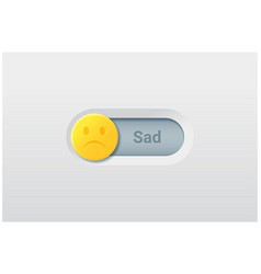 switch control turn off represent sad emotion vector image