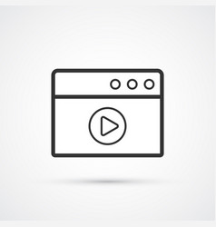 video network flat line trendy black icon eps10 vector image