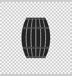wooden barrel icon on transparent background vector image