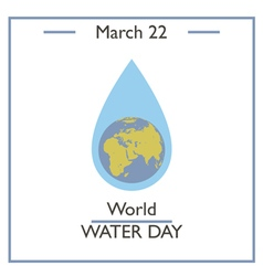 World Water Day vector image
