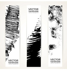 Abstrac black ink banner set vector image vector image