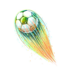 abstract soccer ball vector image vector image