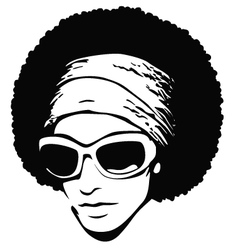 afro hair pop art vector image vector image