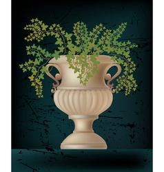 antique amphora on black vector image