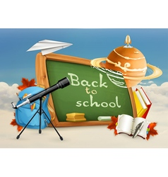 Back to school astronomy lessons studying and vector image