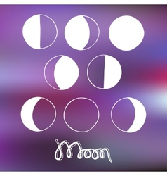 Cartoon moon and moon phases vector image