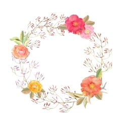 flowers wreath Elegant floral collection vector image vector image