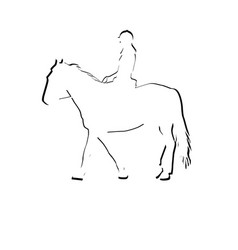 horse rider silhouette icon vector image