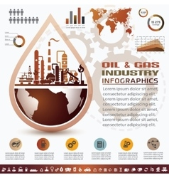 oil and gas industry infographics extraction vector image vector image