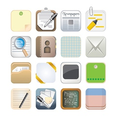 paper app icon set vector image vector image