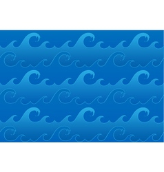seamless ocean waves pattern vector image