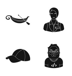 Sport profession textiles and other web icon in vector