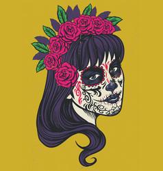 vintage sugar skull vector image vector image
