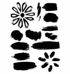 ink elements vector image