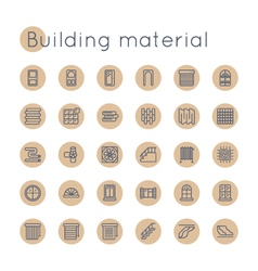 Round Building Material Icons vector image