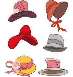 The complete set of female hats vector image
