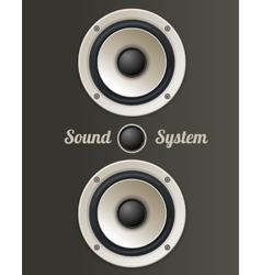 Vintage Audio speaker set vector image