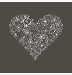 Wedding heart6 vector image