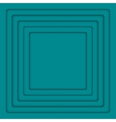 Concentric turquoise 6 square background vector