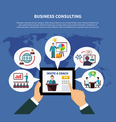 worldwide business consulting concept vector image
