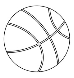 basketball icon outline style vector image
