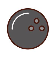 brightly bowling ball cartoon vector image vector image