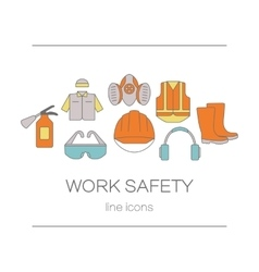Concept of title site page or banner for safety vector image vector image