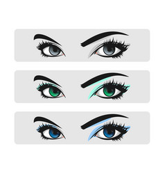 eyelash extension logo vector image
