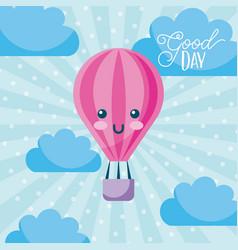 good day cartoon vector image