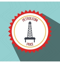petroleum oil barrel tower vector image