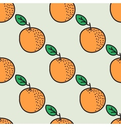 Seamless hand-drawn pattern with orange vector image vector image