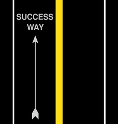 success street road vector image