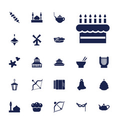 22 traditional icons vector
