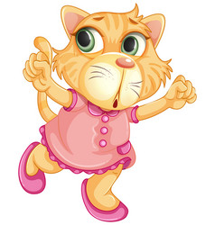 A baby tiger character vector