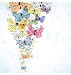 Abstarct background with colorfull butterfly vector