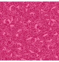 Abstract Pink Plants Seamless Pattern Background vector