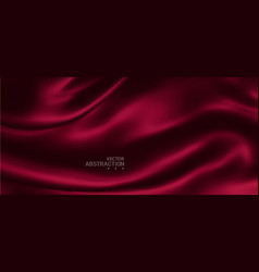 Abstract red background luxury cloth red silk vector