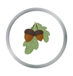 Acorns icon in cartoon style isolated on white vector image