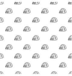 Alaska igloo pattern seamless vector