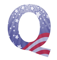 american letter Q vector image