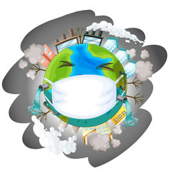 An earth day icon vector