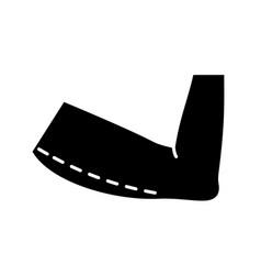 Arm lift surgery glyph icon vector