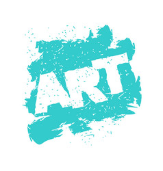Art lettering logo in grunge style spray and vector