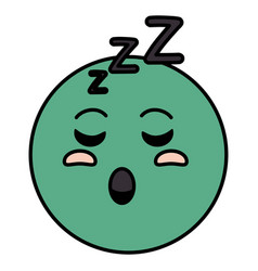 asleep emoticon face character icon vector image