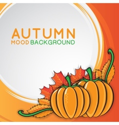 Autumn background with pumpkins vector image