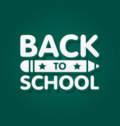Back to school banner design with 3d title vector