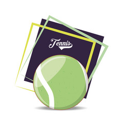 ball to play tennis sport vector image