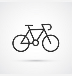 bicycle blsck trendy cute icon vector image